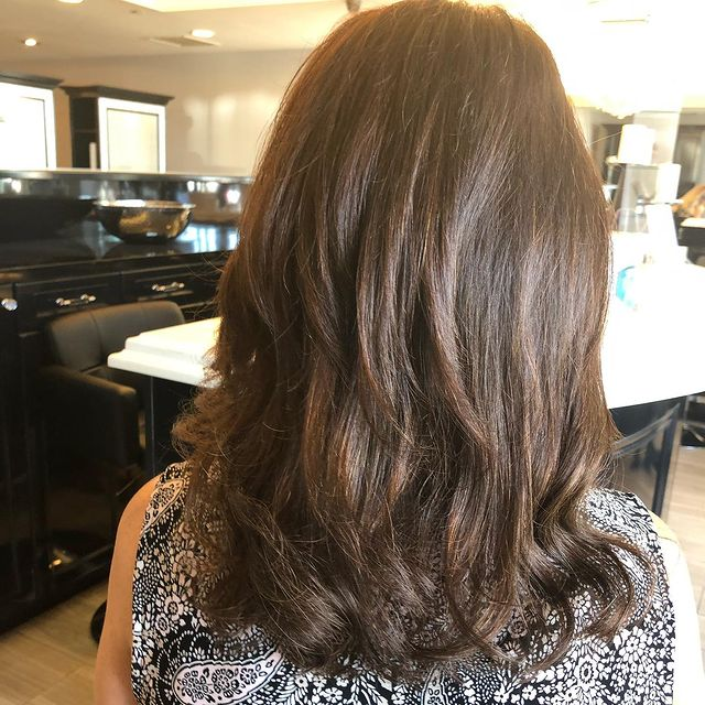 Photo by @daniele_lindahair in Hair Essentials Salon. Image may contain: one or more people and indoor. Thank god my teachers are getting ready to go back to work!! #schoolhaircut#freshcolor#simplesexyblowout