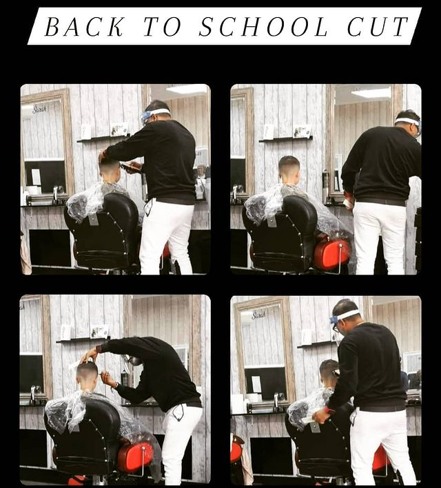 Photo by som@style 420 on September 10, 2020. Image may contain: one or more people, text that says 'BACK TO SCHOOL Sandh CUT'. Back to school #backtoschhool#haircut#schoolhaircut#loyaltyclient#loyaltyiseverything#freshhaircut️ #shortbackandsides #zerofade️ #@somssalon #stneots #stylegurustyle #loveforbarbering #passionforwork #barberworld #barberlife️#lovebeingbusy #londonlife#followforfollowback #follow4likes #like4likes @style_g
