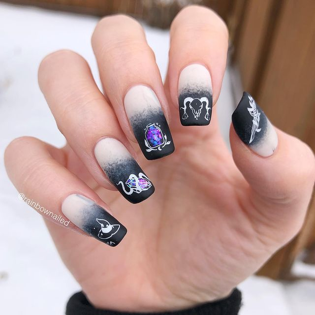 Photo shared by Vic on February 28, 2021 tagging @hellomaniology, @essie, @livelovepolish, @bornprettystore, and @holotaco.