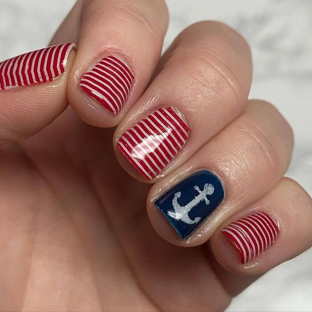 Photo shared by Nail Nerd Challenge on March 10, 2021 tagging @eatcraftgrow. May be an image of stripes.