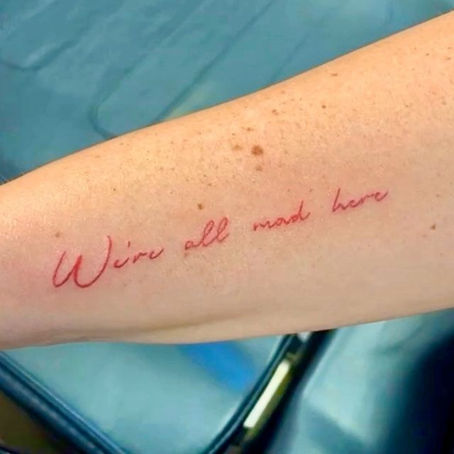 Photo by Steven in Fine Ink Studios - International Drive. May be an image of one or more people, tattoo and text.