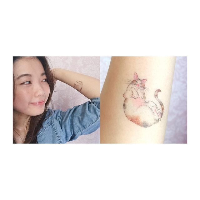 Photo by 黎尚明 Charmaine Lai on March 28, 2021. May be an illustration of 1 person and tattoo.