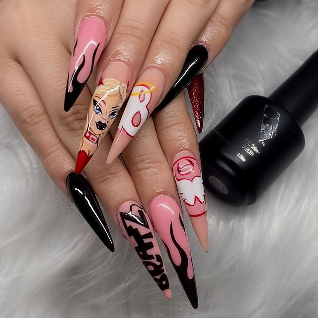 Photo shared by Divina Saubel Nail Artist on April 06, 2021 tagging @valentinobeautypure, @david8valentino, @trinity.dymonique, and @aloha_beautybar. May be an image of 1 person.
