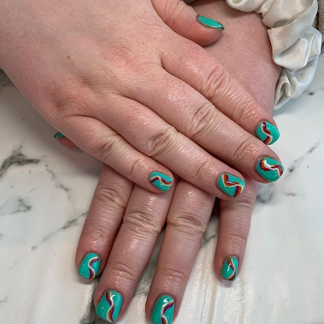 Photo by Nails By Nicola on April 30, 2021. May be an image of 1 person.